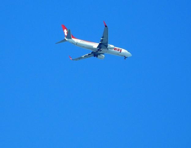 写真: 江津湖上空