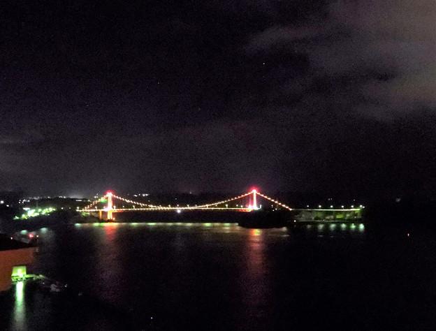 写真: 平戸大橋夜景