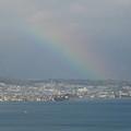琵琶湖にかかる虹
