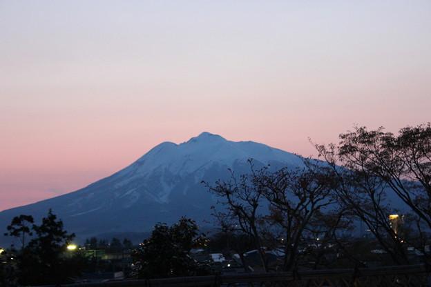 Photos: 庭園内から見る岩木山