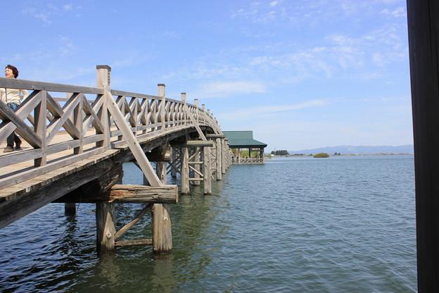 津軽富士見湖と鶴の舞橋
