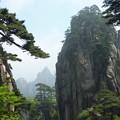 始信峰風景 松は雲よりおぼろにて~黄山笑迎天下客Scenery in Huangshan