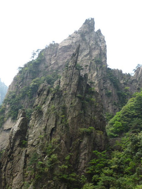 首痛きまで聳え A rock formation in Huangshan