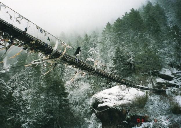 ネパール大地震 吊り橋は如何?Suspension bridge to Namche Bazar