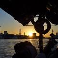 写真: ドバイの落日~UAE/Sunset from Abra on Dubai Creek