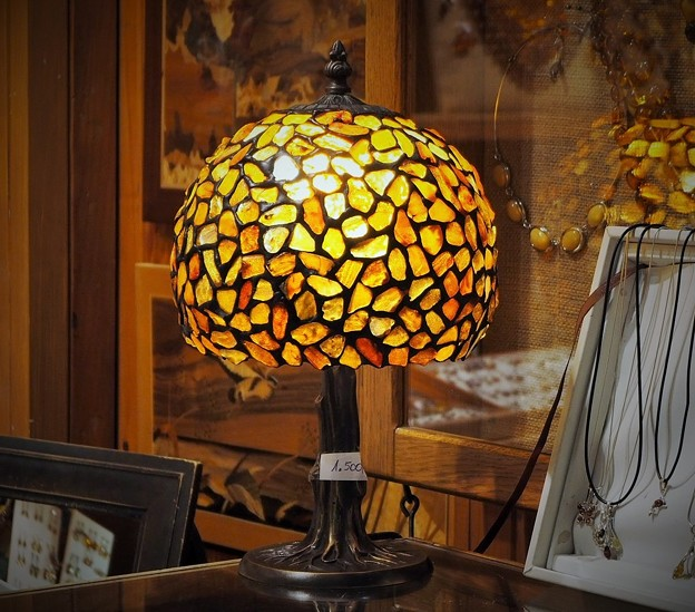 琥珀の間~ポーランド Amber Lamp