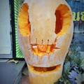 写真: トビリシのハロウィン南瓜~ジョージア Halloween display