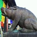 Photos: よきお年をお迎え下さい~摩利支天堂 Sitting Wild Boar Statue