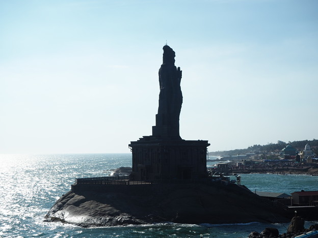 インド最南端の聖地Thiruvalluvar Statue,Cape Comorin