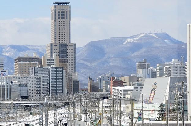 JRタワーと手稲山