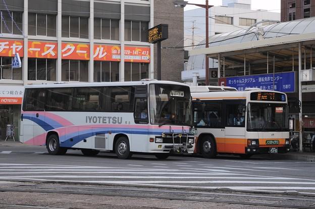 松山市駅5番乗り場