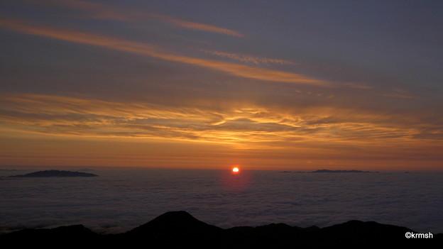 大朝日岳の御来光