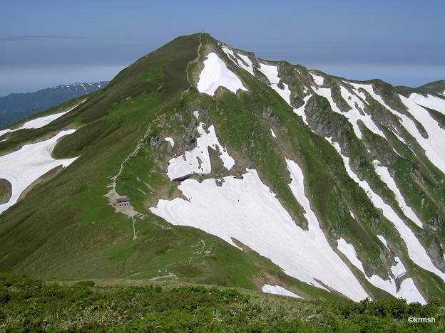 北股岳と梅花皮小屋