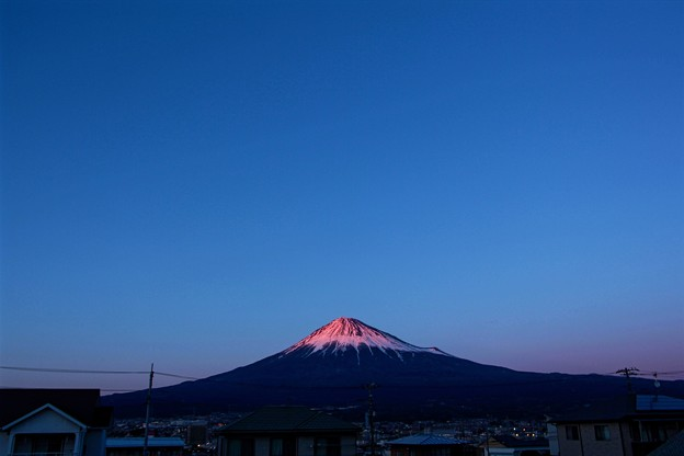 Photos: 2月7日富士宮からの夕方富士山~ スッキリ綺麗でした(^ ^)