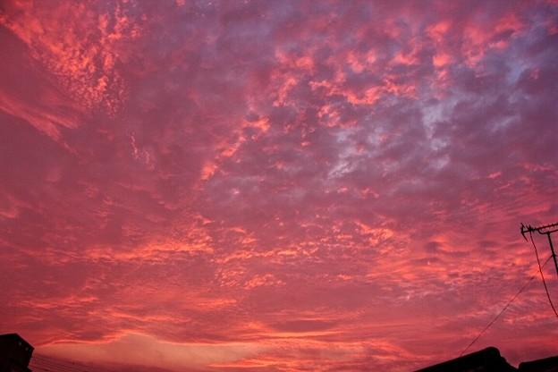 5月17日 富士宮市からの夕焼け~ 意外!西は焼けましたね(^ ^)