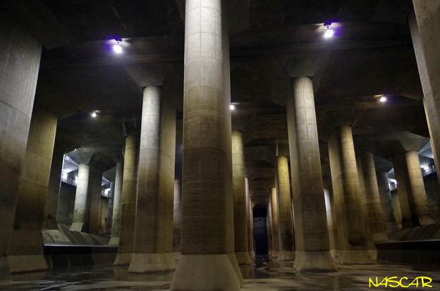首都圏外郭放水路 庄和排水機場 調圧水槽 31102013