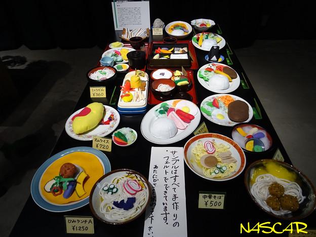 サンプルはすべて手作りのフェルトでできています。©三浦和香子 @櫛野展正のアウトサイド・ジャパン展 15052019