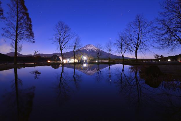 Photos: 星空/ 逆富士