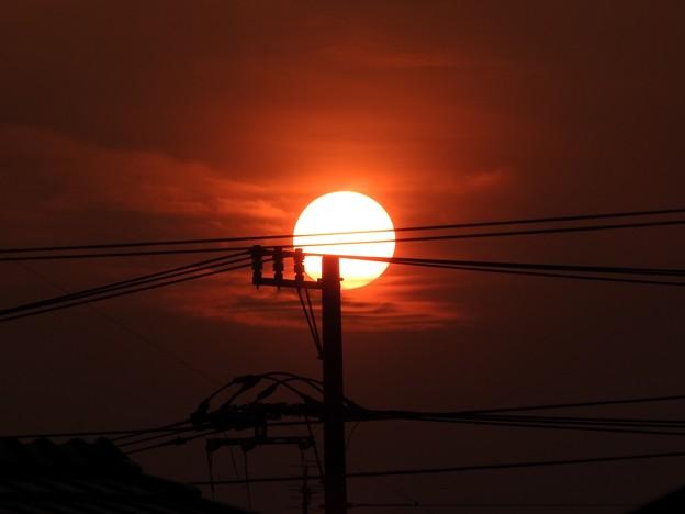 写真: 落陽01 澄みわたる