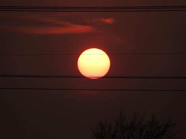 写真: 落陽03 太陽も天体