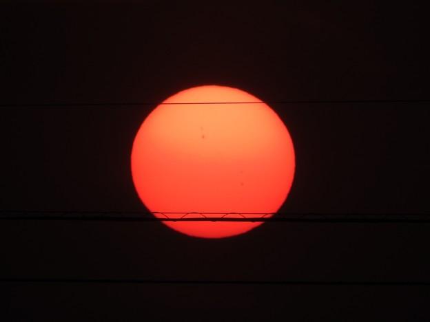写真: 落陽04 日の丸だ(黒点付き)