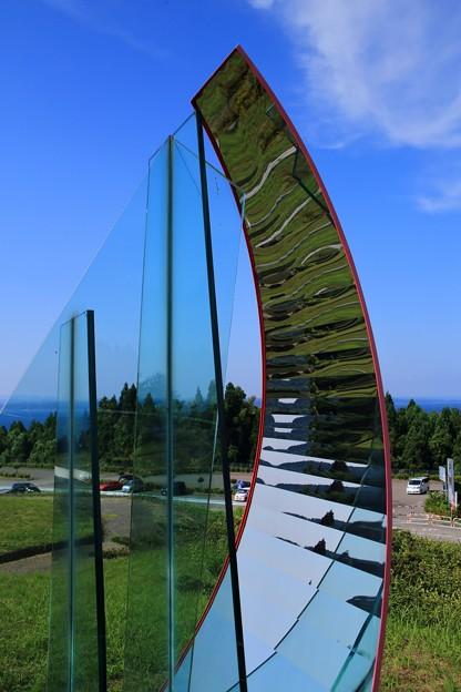 ガラスのオブジェ(横から)