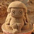 千里浜ミニ砂像