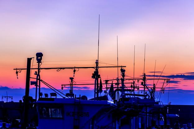 漁港の朝景01