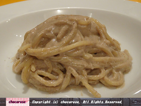 いろろい茸のクリームソーススパゲッティ