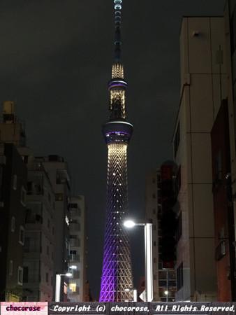 東京スカイツリーのライティング1