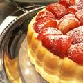 写真: 苺たっぷりケーキ