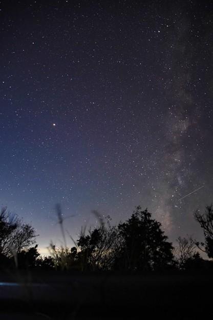 夏の銀河と火星