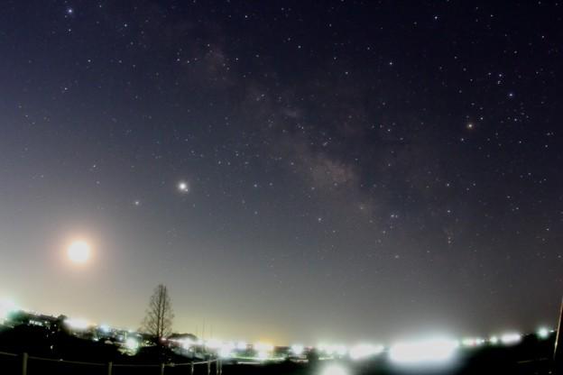 2020-3-20月土星木星火星の集合