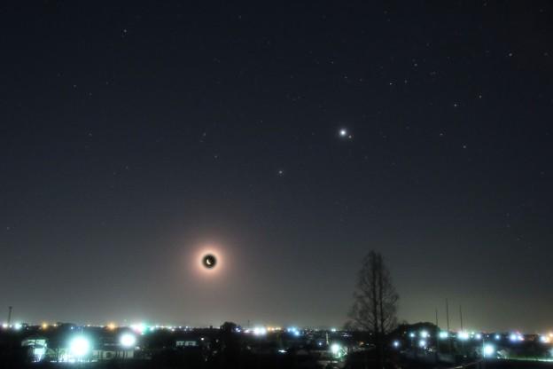 Photos: 2020-3-20月土星木星火星の集合2