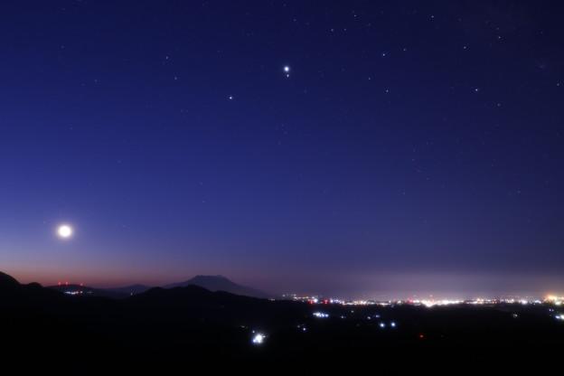 Photos: 木星火星土星接近