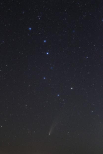 北斗七星とネオワイズ彗星 7月21日
