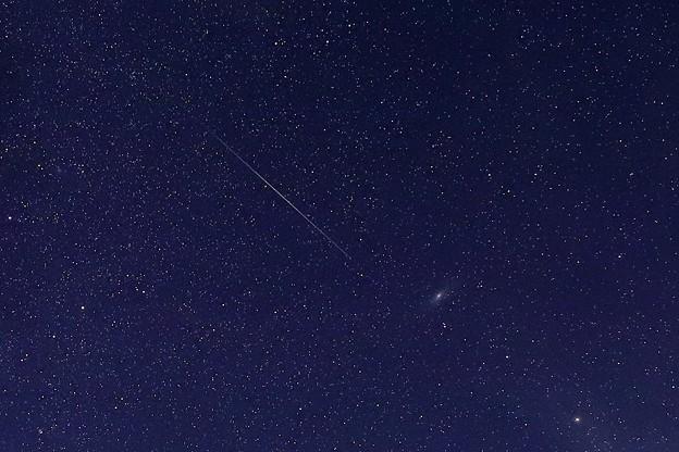 Photos: ペルセウス流星群 アンドロメダ銀河