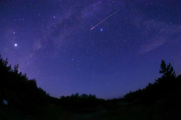 ペルセウス座流星群 天の川
