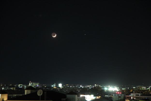 月と木星と土星の接近2