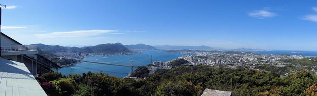 火の山 山頂から眺める関門海峡