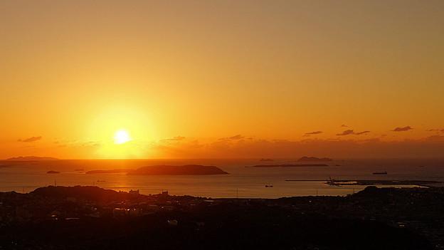 響灘に沈む夕日_2