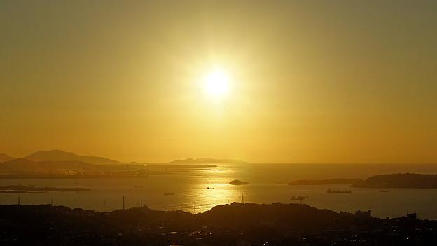 響灘に沈む夕日_4