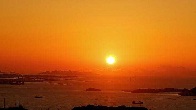 響灘に沈む夕日_6