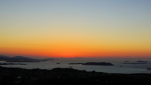 響灘に沈む夕日_7