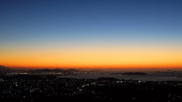 響灘に沈む夕日_8
