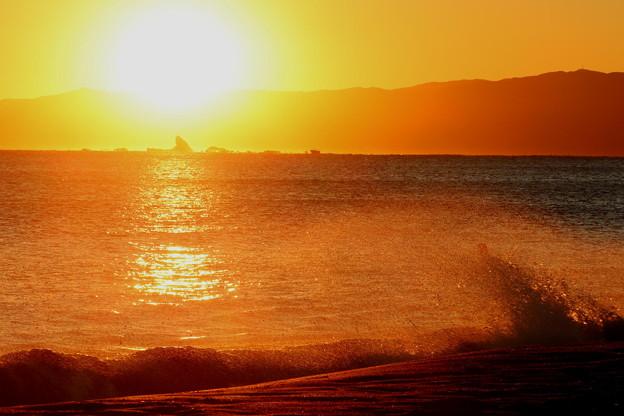 Photos: 日没えぼし岩の後ろへ2