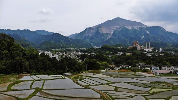 Photos: 武甲山と棚田