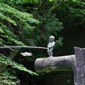 Photos: 小便小僧とドローン