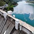 写真: ダム上空