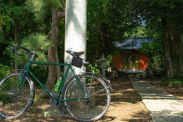 写真: 自転車と神社@赤城神社